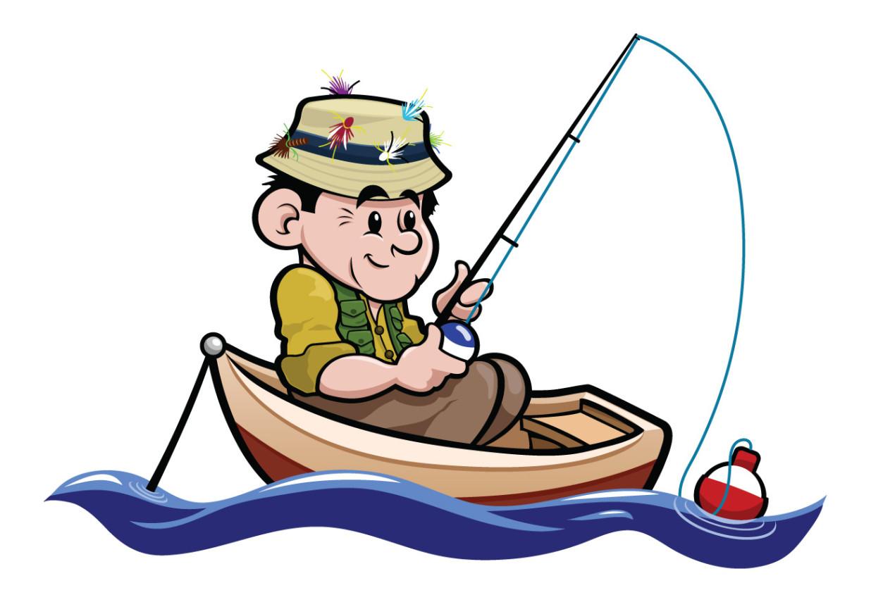 Картинка рыбак ловит рыбу