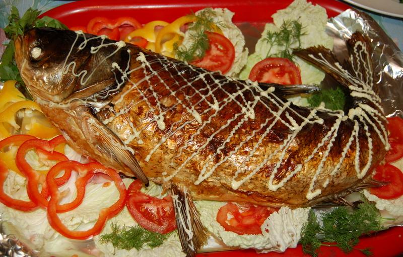 фаршированная рыба в фольге в духовке рецепт